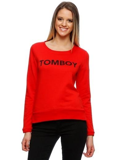 Only Sweatshirt Kırmızı